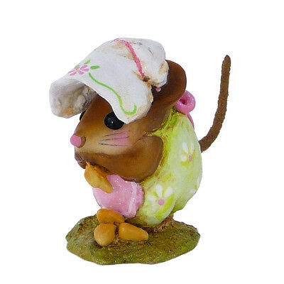 SPRING NIBBLE MOUSE by Wee Forest Folk, WFF# NM-1b, GREEN