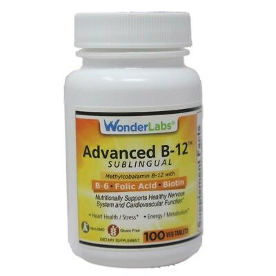 Sublingual Vitamin B12(1000mcg) #3291 - 100 Tablets