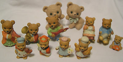 LOT of Homco porcelain Teddy Bear figurines musicians family career baby