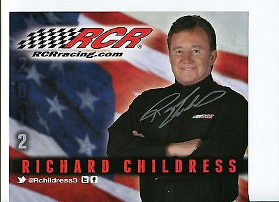 Richard Childress NASCAR Driver And Owner Signed Autograph Photo