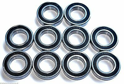 10 pack 61802 2rs [6802]15x24x5mm Thin SectionSEALED HIGH PERFORMANCE BEARINGS
