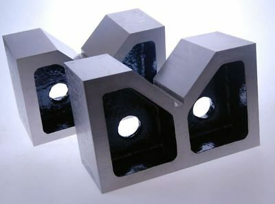 "Pair of Cast Iron Vee V Blocks 7"" (Ref: 110550) High Quality Precision Ground"