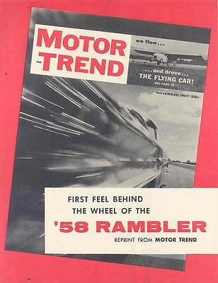 1958 AMC Rambler Rebel Station Wagon Roadtest Brochure 153399-4P7AOP