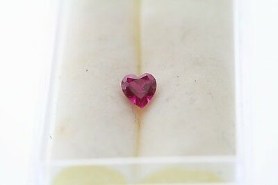0.29ct Heart Cut Loose Lab Created Ruby 4.0 x 4.0mm