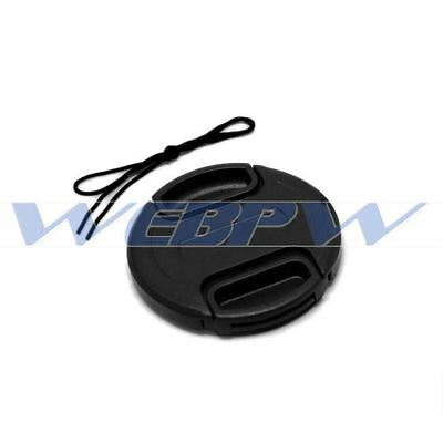 46mm Front Lens Cap Snap-on Cover for Canon Nikon Olympus Sony Camera w/ String