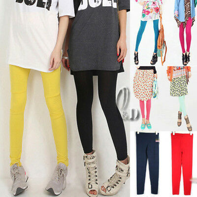 AU SELLER Celeb Style Cotton Leggings Stretch pants Multiple Colour P003