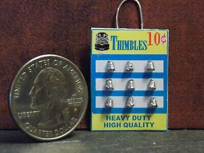 Dollhouse Miniature Sewing Shop Thimble Hanging Display 1:12 one inch scale A4