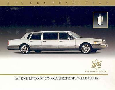 1990 S&S Coach Lincoln Town Car Rwd Limo Brochure 112522-P6JOPB
