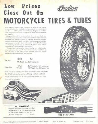1957 Indian Motorcycle Tire Tube Accessory Brochure 132361-MNLUVW