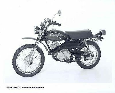 1975 Kawasaki MC1 Mini Enduro Motorcycle ORIGINAL Factory Photo 132476-LHJZQB