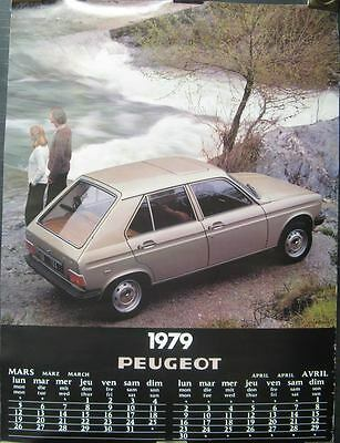 1979 Peugeot 104 SL Showroom Poster 150061-B2629D