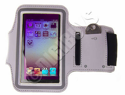White A-Sports Adjustable ARMBAND key holder for iPod Touch 5th 5G 5 Gen UK