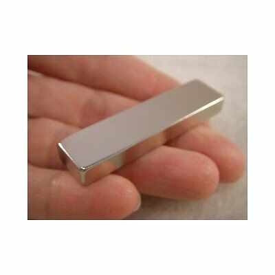 """Jeweler's TEST MAGNET Gold & Silver Tester 2""""x1/2""""x1/4"""" - 29 lbs Pull Force N45"""