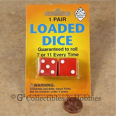NEW Loaded Trick Mis-spotted Opaque Red Dice Set 2, 5, 6 Only Not Weighted 19mm