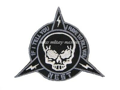 BLACK OPS TRANSFORMERS 3 NEST SKULL IF I TELL YOU I HAVE TO KILL YOU PATCH NEW