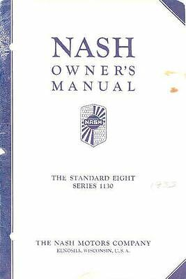1933 Nash Standard Eight Series 1130 Owner's Manual om425-W9QGNK