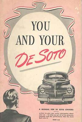 1940 Desoto Owners Manual om735-ONSYBG
