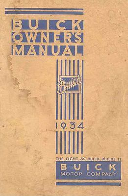 1934 Buick Eight Owners Manual om894-MAKM8J