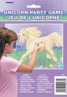 UNICORN Party Game Childrens Birthday Game (pin the tail on the donkey)