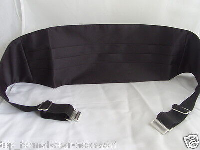 FORMAL   TOP Quality BLACK Polyester Cummerbund   Camberband P&P 2UK 1st Class