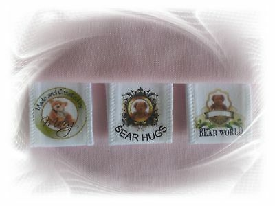 20 x Personalized Small Sewing Labels eg bears, bags etc