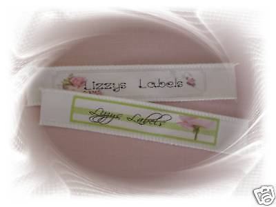 30 x Personalised Sew On Fabric Clothing Label Tag