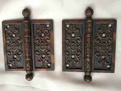 "NOS ""Old Copper Finish"" Hinges"