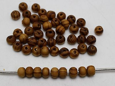 500 Natural Pattern Round Wood Beads 6mm Wooden Beads