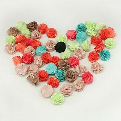 Flower Appliques Millinery Trim Brooch Corsage bow craft Hair Accessories Hat 11