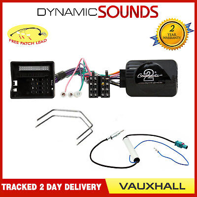 Steering Stalk Control CAN-BUS Adaptor Harness & Patch Lead For Vauxhall Antara