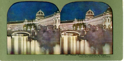 Stereo, Louisiana Purchase Exposition, 1904. Palace of Varied Industries at Nigh