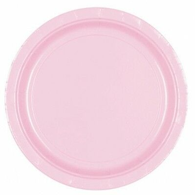 LOVELY PINK 7\  Cake Paper PLATES Birthday Christening PastelGirl Party Tableware  sc 1 st  PicClick UK & LOVELY PINK 9\
