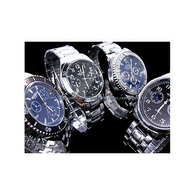 10 Pcs Wholesale New Luxury Stainless Steel Cool Gents Man's Wrist Watch Mw