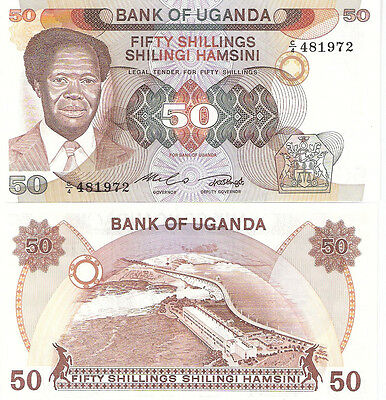 UGANDA 50 shillings Banknote World Paper Money UNC Currency Pick p20 Note Bill