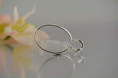Sterling Silver Oval Cab-Grabber Pendant For: 25x18, 30x22 or 40x30mm Cabochon