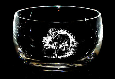 ROTTWEILER *DOG GIFT* 12.5cm Boxed CRYSTAL GLASS SWEET BOWL