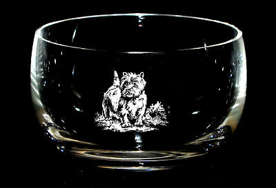 WEST HIGHLAND TERRIER *DOG GIFT* 12.5cm Boxed CRYSTAL GLASS SWEET BOWL