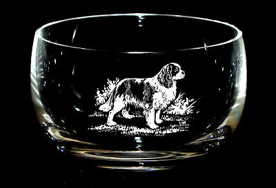 CAVALIER KING CHARLES *DOG GIFT* 12.5cm Boxed CRYSTAL GLASS SWEET BOWL