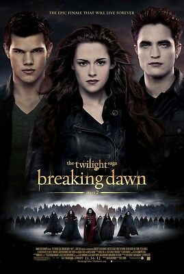 Breaking Dawn 2  - original DS movie poster - D/S 27x40 FINAL Style B