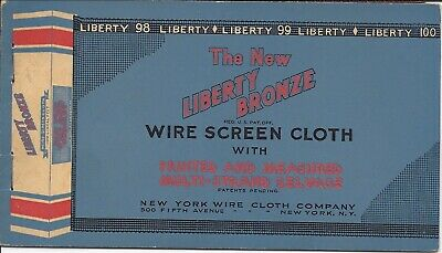 Sample of Wire Screen Cloth for Doors and Windows, in Attractive Folder, c1920s