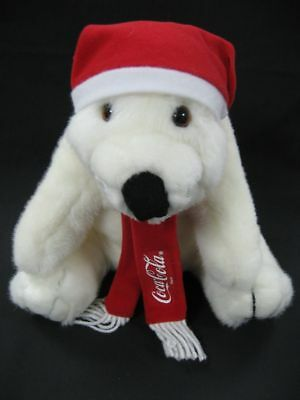 Coca Cola Polar Bear W Scarf & Stocking Cap - New 1995