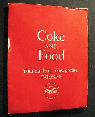 """Coca Cola Retailers Advertising  Catelog Guide for """"Coke and Food"""" - 1960 Rare"""