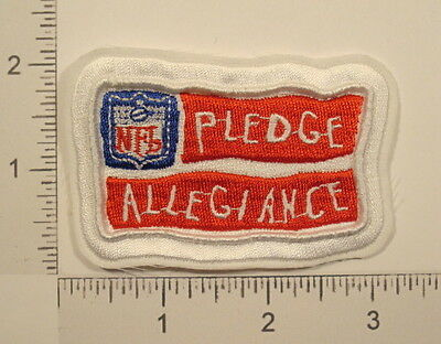 NFL FOOTBALL PLEDGE ALLEGIANCE Sports Embroidered PATCH