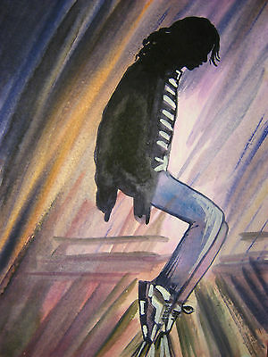Painting Michael Jackson FIVE 5 King of Pop Music Song Dance Toes 5,5x7,5 inch