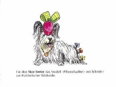 Skye Terrier Hat M - German Dog Print - MATTED / NEW