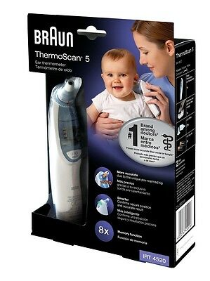 BRAUN THERMOSCAN IRT4520 EXACT TEMP EAR THERMOMETER for Baby/Child/Adult/Infant