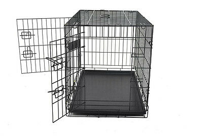 "NEW 30"" CHAMPION BRAND 2 DOOR FOLDING DOG CRATE KENNEL"