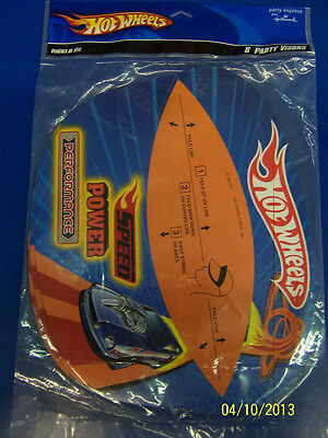 RARE Hot Wheels High Speed Race Car Birthday Party Favor Hats Paper Visors *