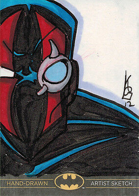 Cryptozoic 2013 Batman The Legend Sketch Card by Kevin Gentilcore of KGBeast