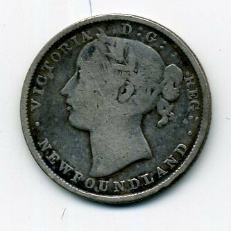 Canada KM-4 1870 20 Cent Very Good